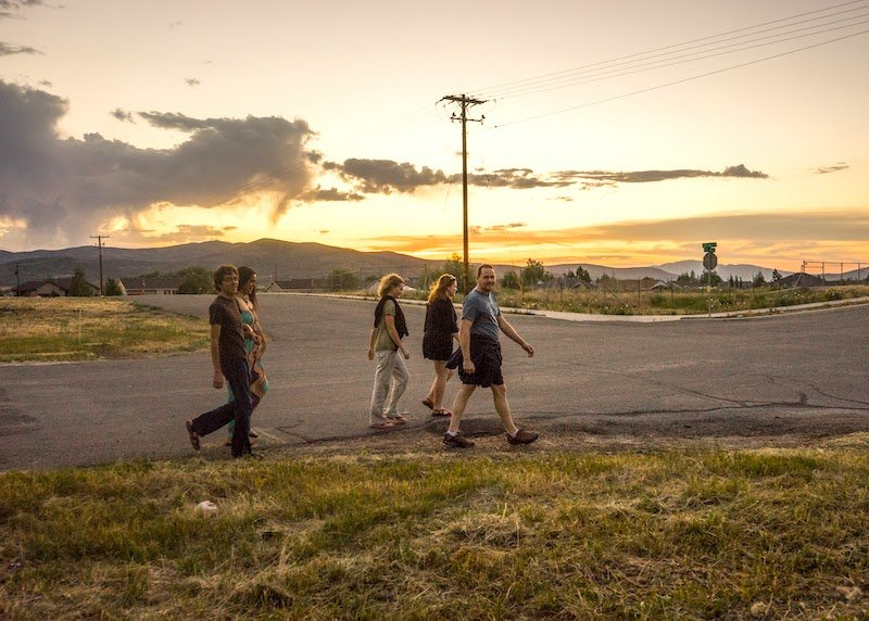 Sunset walk in Kamas